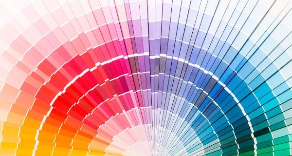 Colour charts fanned out to show a full range of colours for your Freelance Home Office Space.